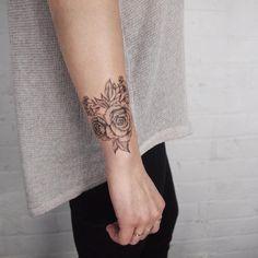 Corsage wrist flowers - Tattoo People Toronto - Jess Chen