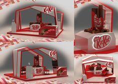 KITKAT booth on Behance Exhibition Stall, Exhibition Stand Design, Exhibition Display, Pop Display, Display Design, Booth Design, Exibition Design, Pop Design, Environmental Design