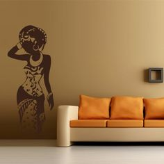 Wall Decal Art Decor Decals Sticker Woman Africa Lady Tribe Ethiopia