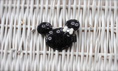 Adorable Minnie Mouse Sequin with a Bow clip by MadiMosBows, $4.00