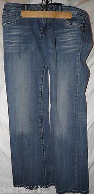 REROCK FOR EXPRESS Bootcut ladies size 10S acidwashed denim jeans 30 inseam
