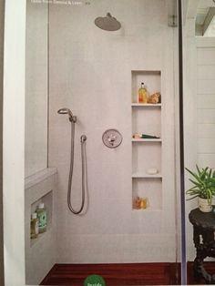 Vintage shower shelves