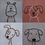 Dogs embroidery pattern PDF - via @Craftsy