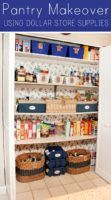 11 inexpensive dollar store organizing hacks | Pantry life goals...