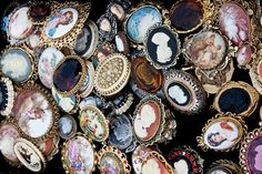 vintage cameo brooches