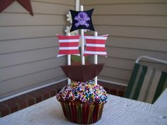 Cupcake Ideas Cupcakes - All Things Cupcake pirate ship