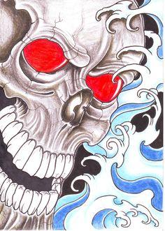 water tattoos for men | Pin Viking Skull Cross Tattoos For Men Tattoo Designs on Pinterest