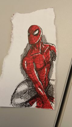 Spidey sketch Art of JWM Casavant