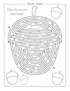 Free Fall Mazes for Kids Thanksgiving Worksheets, Thanksgiving Crafts, Spring Activities, Fun Activities For Kids, Printable Mazes, Printable Turkey, Printables, Fun Worksheets For Kids, Maze Worksheet