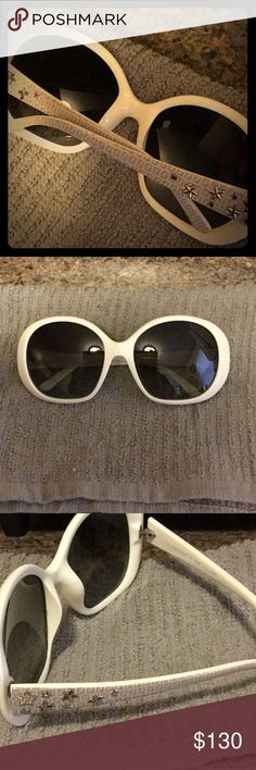 Authentic FENDI sunglasses Retail at $175. Model number is FS5186. Unfortunately, I misplaced the case. Perfect condition. Super chic! Little silver stars on the temples! Fendi Accessories Sunglasses