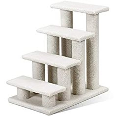 awesome Tangkula Pet Stairs Ramp for Cats and Dogs Cat Climber Kitten Steps 🍀Stable Construction and Durable: The pet stairs is made of high quality and thick MDF board, which will last long, environment friendly, and is non-toxic for animals. Diameter of poles are 7mm. 8 Poles are covered by soft and warm faux fleece. 🍀In line with nature of cat: All cats are crazy about climbing and... Best Cat Scratching Post, Stair Ladder, Cat Climber, Cat Stairs, Cat Tree Condo, Stair Steps, Just Relax, Particle Board, Cool Cats