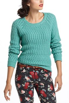 Comes in coral, mustard, and white Hamilton Cottage Sweater #anthropologie
