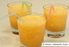 Őszibarackos jeges tea Glass Of Milk, Food And Drink, Pudding, Sweets, Fruit, Drinks, Desserts, Shake, Smoothie