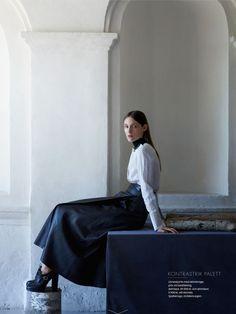balladen om marie: franzi mueller by julia hetta for elle sweden september 2013