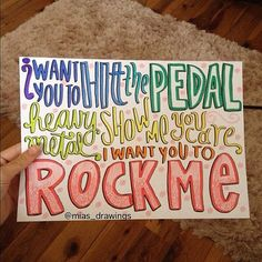Rock Me by One Direction Lyric Art