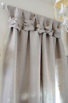 Maison Embrase Coton Satin Originale Anis Long 75 Cm Rideaux