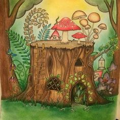Johanna Basford/Enchanted Forest/Tree stump lighter colors