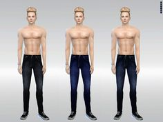 The Sims Resource: N001 Chic Denim Jeans by McLayneSims • Sims 4 Downloads