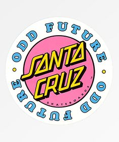 Providing their unique streetwear touch to Santa Cruz's signature iconic skate styling, Odd Future and Santa Cruz have joined forces to unveil their new line of accessories, apparel and skateboard hardgoods now available at Zumiez! Wallpaper Stickers, Phone Stickers, Cool Stickers, Printable Stickers, Red Bubble Stickers, Santa Cruz Stickers, Tumblr Sticker, Preppy Stickers, Handy Iphone