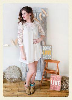 Rae Ivory Crochet Dress - www.amavoboutique.com - Women's Online Clothing Boutique