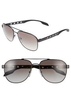 Prada+'Machine'+60mm+Aviator+Sunglasses+available+at+#Nordstrom