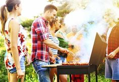 Group of friends having barbecue garden party. Barbecue Garden, Bbq, Promotion Meme, Promotion Ideas, Beach Weather, Fourth Of July Food, Growing Gardens, Summer Pool Party, First Day Of Summer