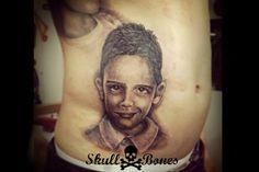 Kid Portrait #kidportrait #childportrait #boyportrait #kid #child #boy #portrait #portraittattoo #skullnbones #skullnbonestattoo