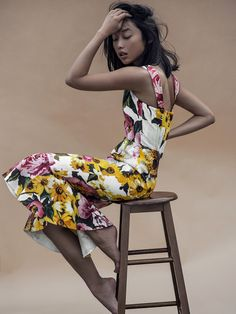 Dolce & Gabbana Floral Print Dress exclusive for NET-A-PORTER
