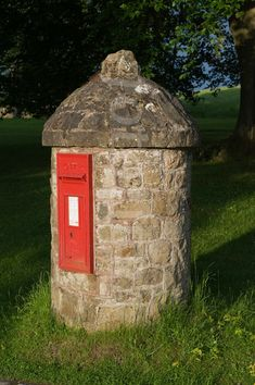 Letterbox at the 13th century Chirk Castle, Wales, that's a cute letterbox!