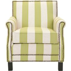 Club Chair: Accent Chair: Upholstered Chair: Safavieh Savannah Club... ($595) ❤ liked on Polyvore featuring home, furniture, chairs, accent chairs, fabric armchair, green upholstered chair, upholstery chairs, green chair and upholstered arm chair