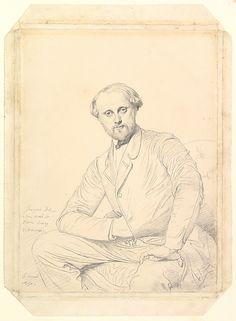 Portrait of the Artist Henri Lehmann, 1850.  Jean-Auguste-Dominique #Ingres