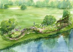 Chatsworth House garden design.