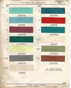 1956 Chevrolet Bel Air Dusk Plum Poly Code 693 Car Paint Color Kit
