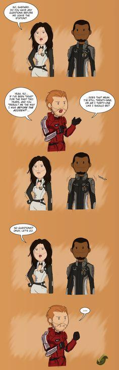 Mass Effect - MaleShep & Miranda & Jacob Two Years by JadeRaven93.deviantart.com on @deviantART