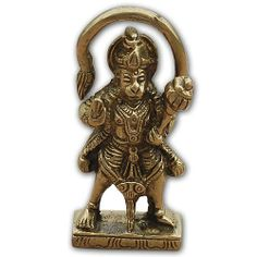 Brass sculpture of HanumanSize: Length: 3.18 cm,Width: 1.27 cm,Height: 7.62 cm.Weight: 0.2 KGBrass metalMade in IndiaThis item can be shipped to Europe locations only.