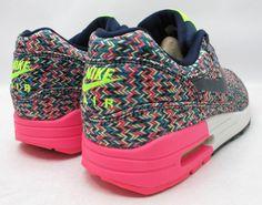 Nike Air Max 1 Wmns Obsidian/Tropical Teal-Volt