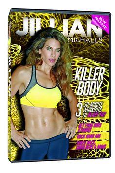 Jillian Michaels 'Killer Body' DVD ~ Three 30-Minute Workouts (Upper Body, Abs, Lower Body)