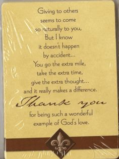 wonderful card for pastor appreciation and his family