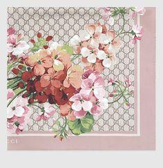 Gucci - GG Blooms Print Silk Scarf 4096773G0015465