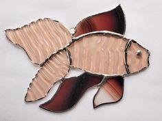 Stained Glass Fish Suncatcher by GlassofDistinction on Etsy