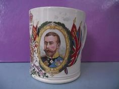 Antique Royal Commemorative Pottery Mug George V Queen Mary 1911 Harrods in Pottery, Porcelain & Glass, Porcelain/ China, Commemorative Ware | eBay