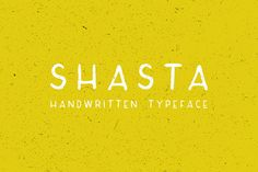 Check out Shasta Typeface by Caleb Warren on Creative Market