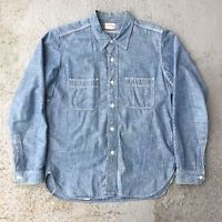 Real Joe Mccoy's 8 Hour Union 8HU Selvedge Blue Chambray Shirt Japan Size 15