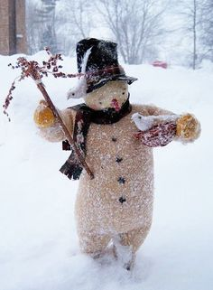 Snowman in the snow from Disorganized