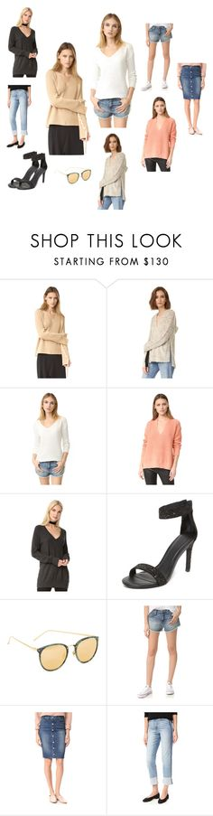 """""""V neck Fashion..@@"""" by yagna ❤ liked on Polyvore featuring Helmut Lang, Pam & Gela, BB Dakota, T By Alexander Wang, Equipment, Joie, Linda Farrow, Current/Elliott, McGuire Denim and Joe's Jeans"""