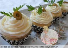 cupcake salgado com recheio de carne seca