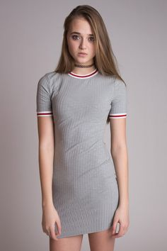 Ribbed Solid Ringer Dress - So versatile! Wear it out to dinner, to work, or even just for fun! Cute Little Girl Dresses, Little Girl Models, Cute Young Girl, Beautiful Little Girls, Cute Girl Outfits, Cute Dresses, Young Girl Fashion, Preteen Girls Fashion, Girls Fashion Clothes