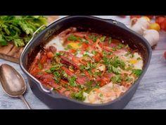 Das perfekte Frühstück: Shakshuka aus dem Philips Airfryer XXL - YouTube #shakshuka #airfryer Vegan, Air Fryer Recipes, Curry, Vegetarian, Easy, Cooking, Popcorn, Ethnic Recipes, Food