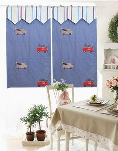 American style 100% cotton roman blinds curtain for kids boy bedroom cartoon engineering car lifting