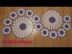 Here is my new tutorial How to crochet Table Runner. This table runner is combination of Purple and white colour. Crochet Table Topper, Table Topper Patterns, Crochet Table Runner Pattern, Free Crochet Doily Patterns, Crochet Snowflake Pattern, Crochet Flower Tutorial, Crochet Leaves, Crochet Tablecloth, Crochet Diagram